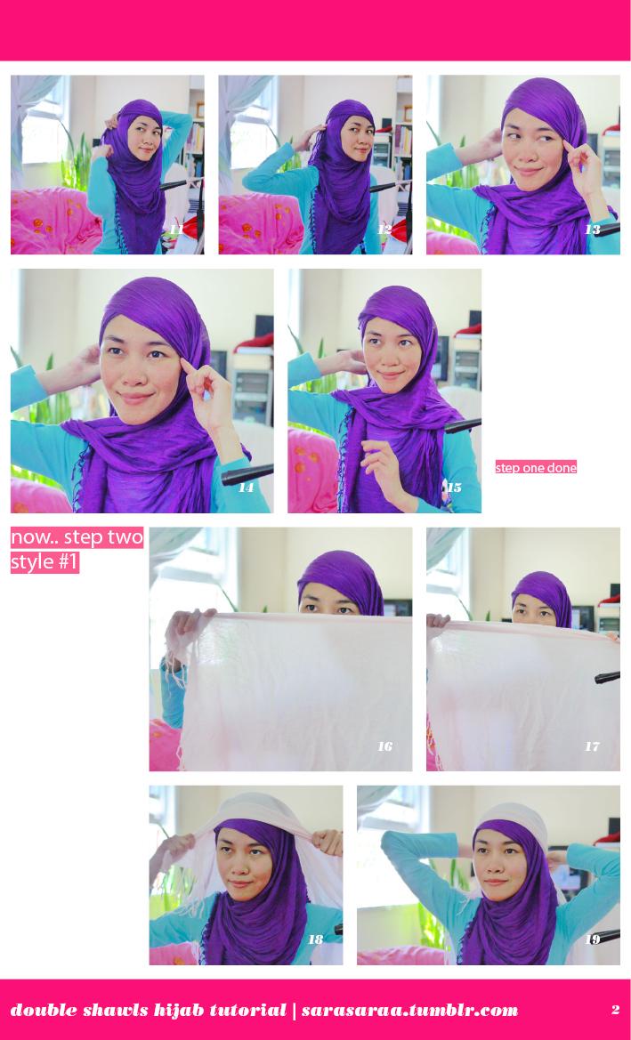 double shawls hijab 1 tutorial  im sorry, its so messy